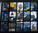 stained glass Primary school window