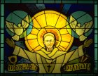 St Columba in Stained glass