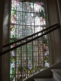 Stained glass Stair window