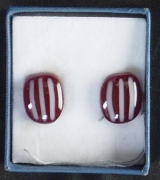 Cranberry White earrings